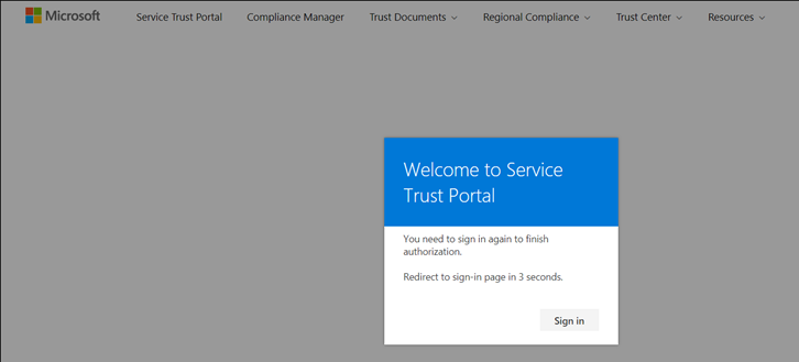 Microsoft Service Trust Portal Login