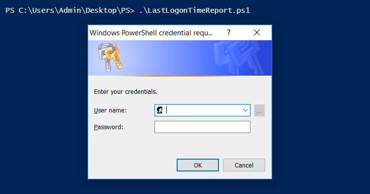 Windows PowerShell credential prompt