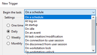 Define time for Task scheduler