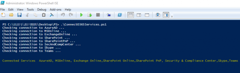 Connect to all Office 365 Services PowerShell