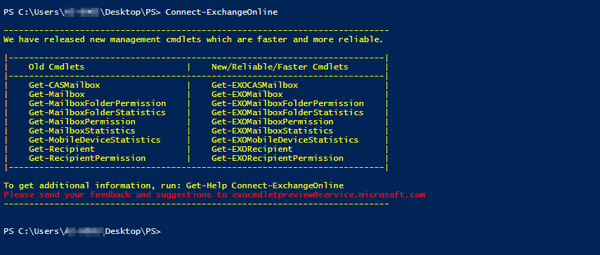 Connect Exchange Online PowerShell without Basic Authentication