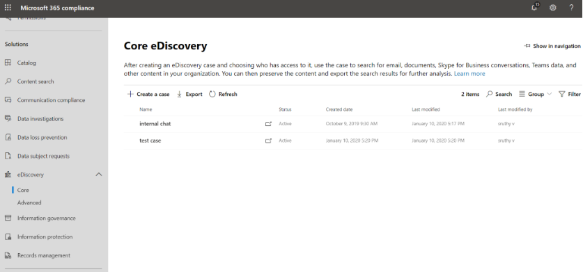 eDiscovery in Office 365