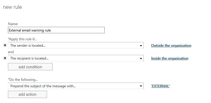 Prepend External in external mails