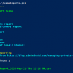 Microsoft Teams Reporting using PowerShell