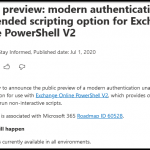 Modern Auth and Unattended Scripts in Exchange Online PowerShell V2