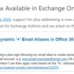 How to Enable Plus Addressing in Office 365 Exchange online