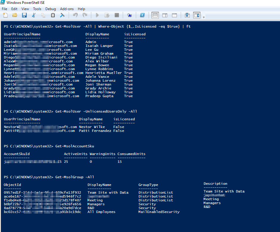 Microsoft 365 report with PowerShell