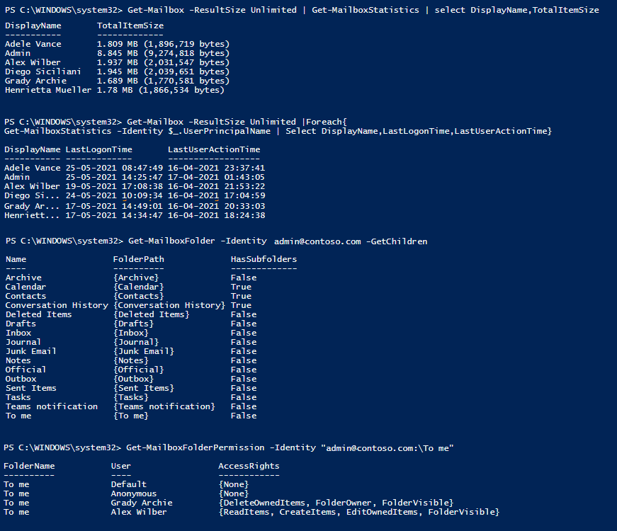 Manage Exchange Online PowerShell cmdlets