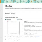 Configure External Sharing in SharePoint Online